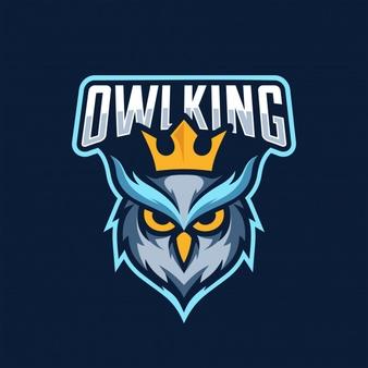 Owl King Esport Logo Logo Keren Burung Hantu Gambar