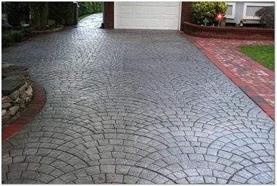Starburst Concrete Design Silver pigment integral coloring ...