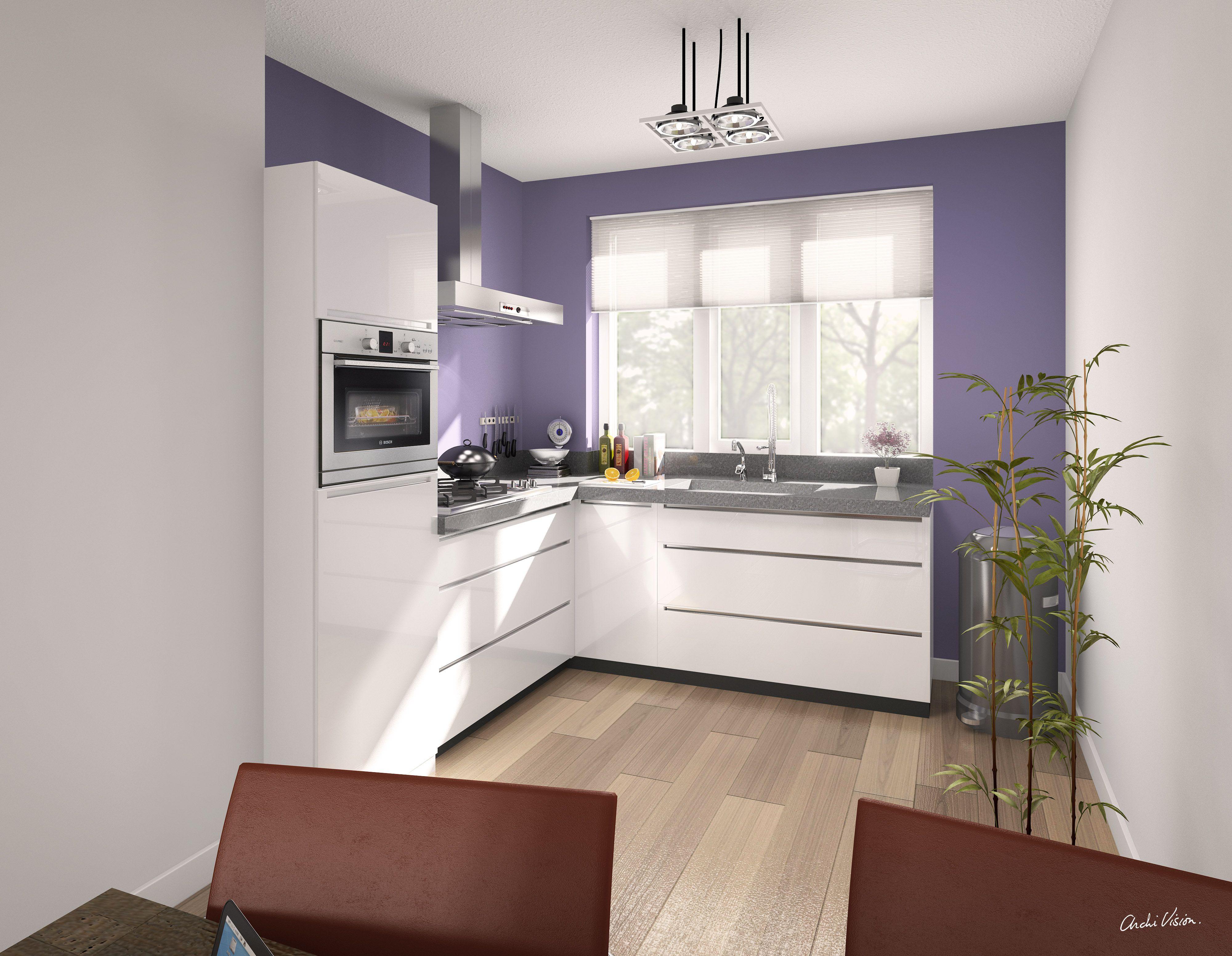 Klein Schiereiland Keuken : Keukenontwerp #hoekkeuken voor nieuwbouwwoning van wanrooij
