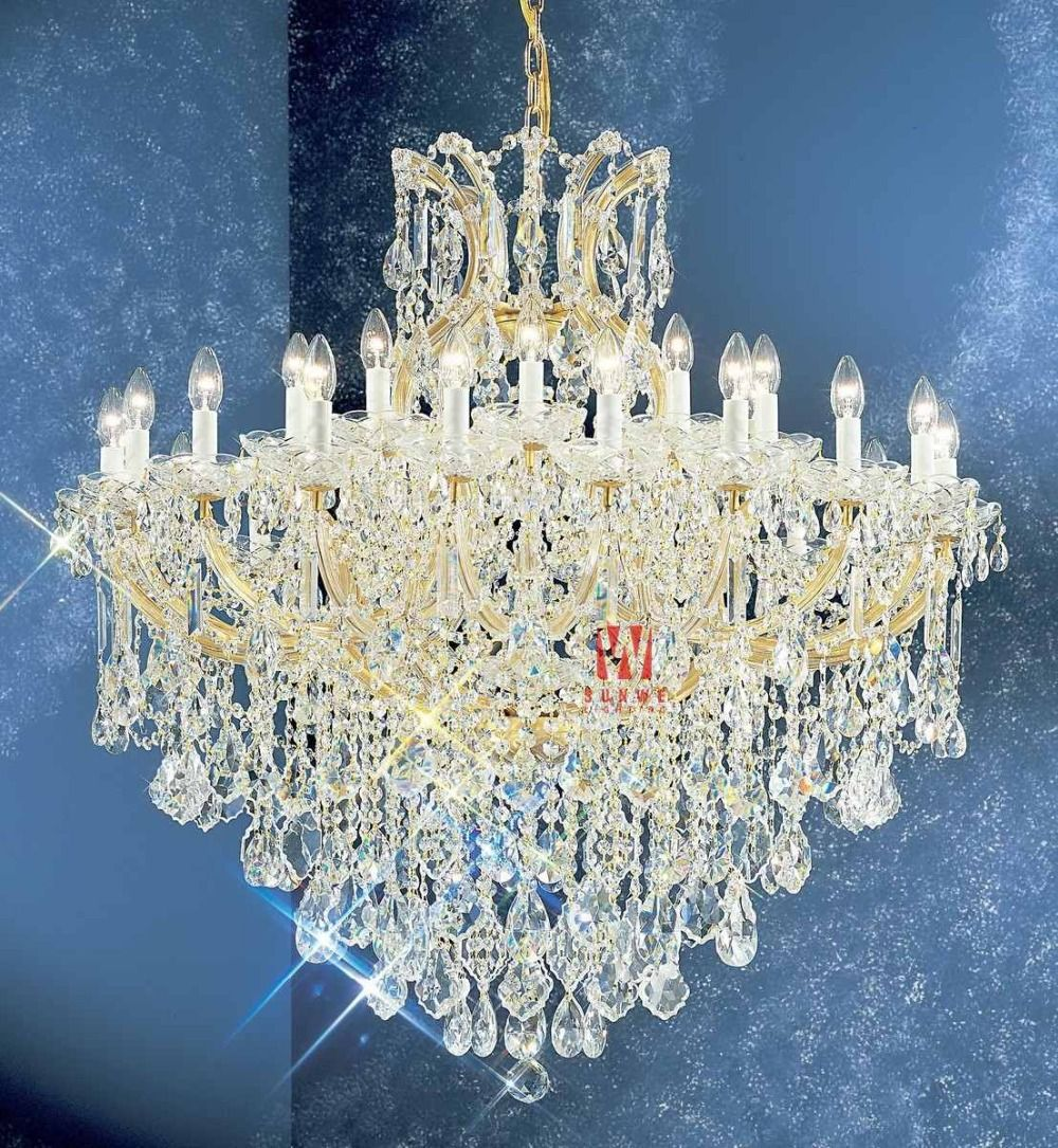 Aliexpress Com Buy Chic Gold Crystal Chandelier Lamp 31 Lights