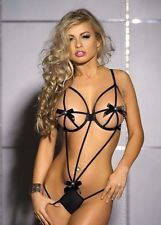 Women Sexy Lingerie Lace Dress Underwear Babydoll Sleepwear G-string Set Black Via Ebay