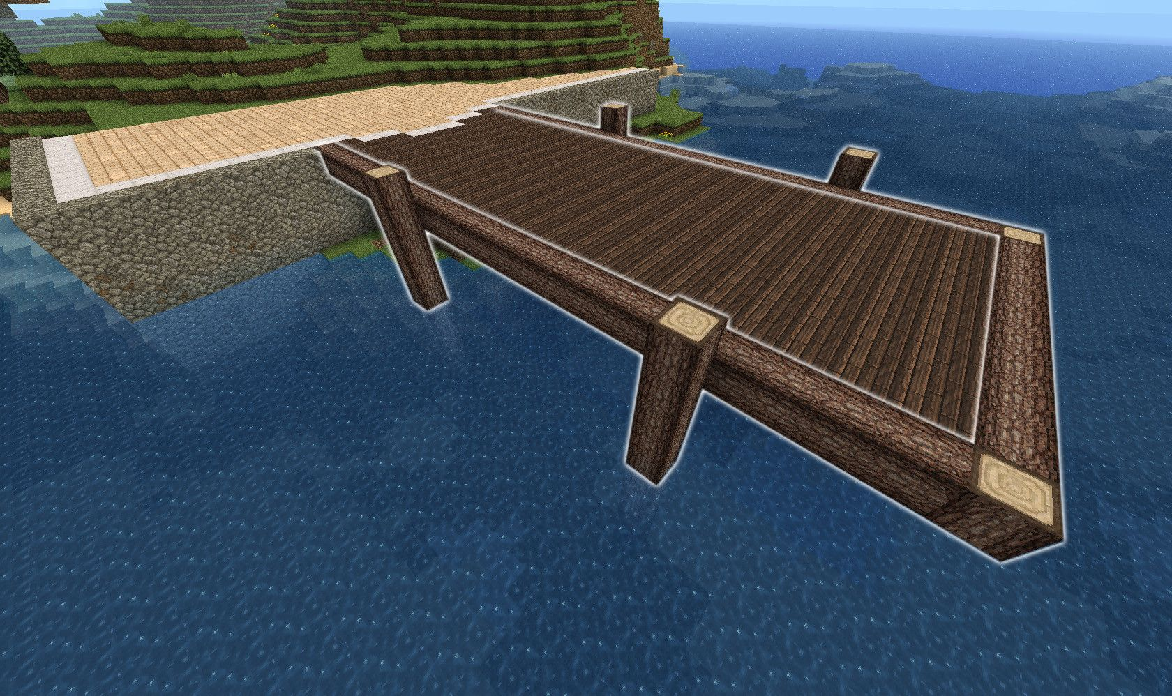 How To Build A Minecraft Dock Building A Dock Minecraft House Designs Minecraft Plans