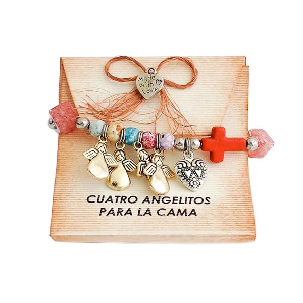 85c92b02edb8 Pulsera Historia: Cuatro Angelitos para la Cama …   pulseras   Pulse…