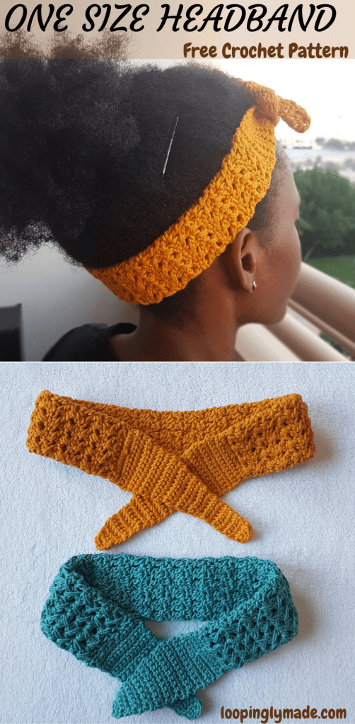 One Size Crochet Headband- easily fits toddler to adult