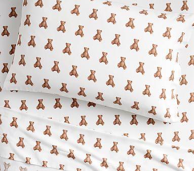 Organic Flannel Teddy Bear Sheet Set Products Teddy