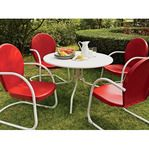 Griffith Metal Outdoor Dining... $349.99 Griffith Metal Outdoor Dining Set - 5-Pc., Red Chairs, Model# 2737   Free Shipping   Kotula's
