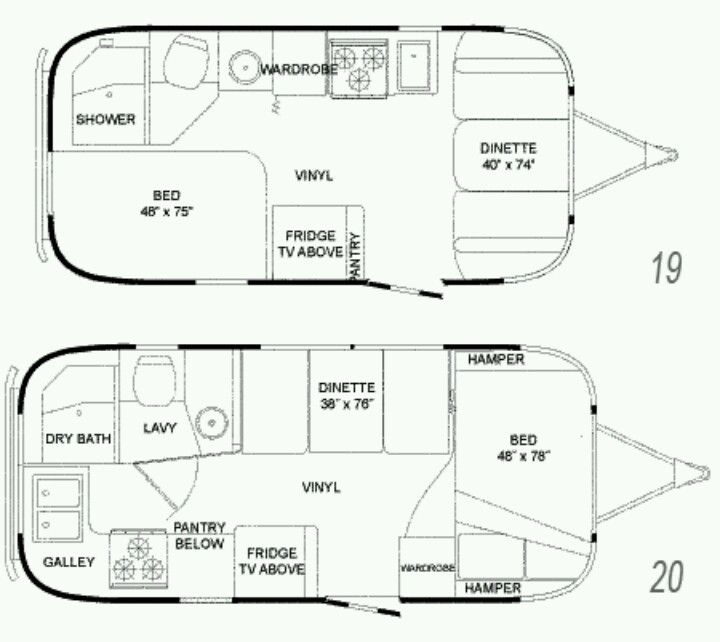 floor plans for airstreams favorite places spaces
