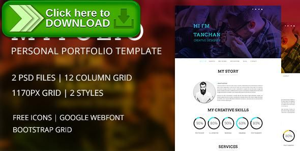ThemeforestFree Nulled Download My Folio  Portfolio Psd Template