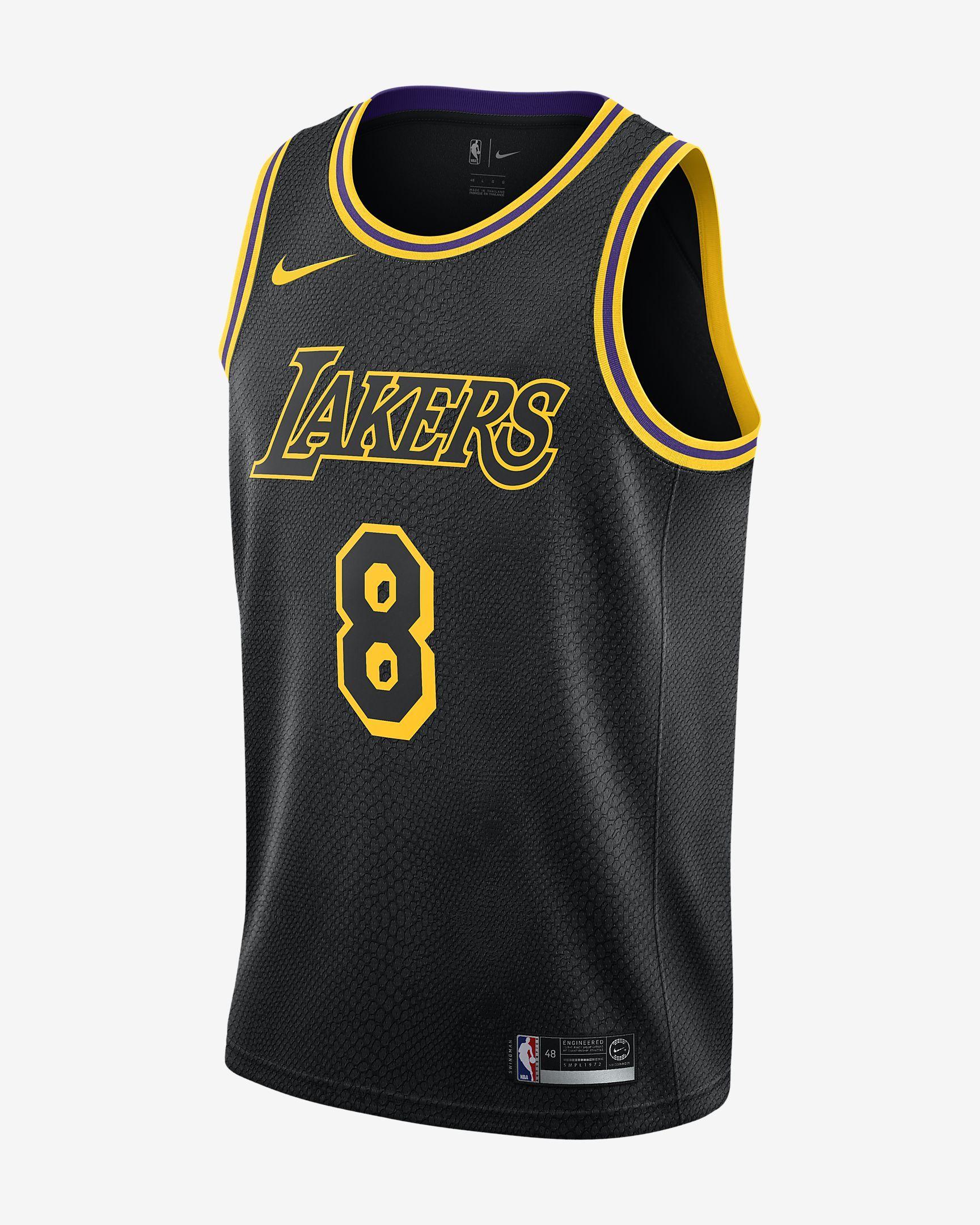 Kobe Bryant City Edition Swingman Jersey Los Angeles Lakers Men S Nike Nba Jersey Los Angeles Lakers Basketball Clothes Lakers Kobe Bryant