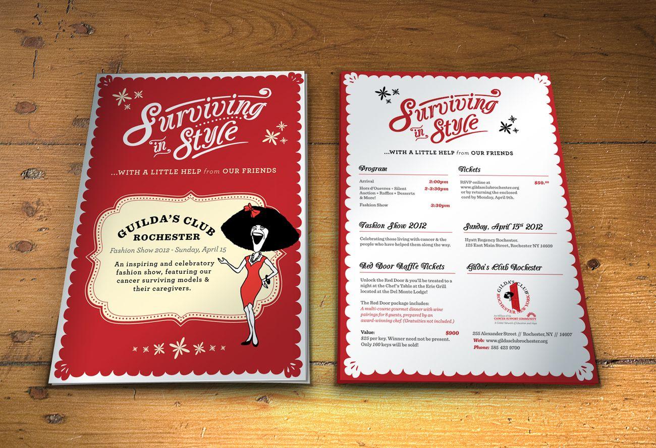 Invitation Design For GildaS Club Fundraiser  Invitation Ideas