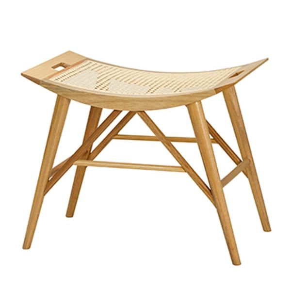 Drawing from a strong Japanese influence, this stool adds immediate interest with its natural wood, and mix of linear and curved lines.  EMAIL FOR AVAILABILITY.