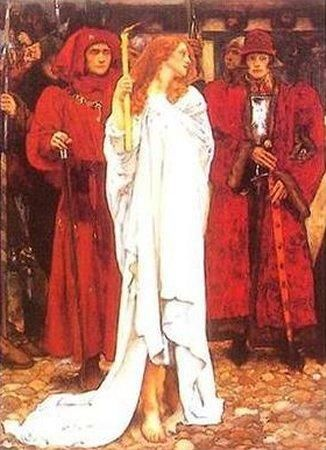 The Penance of Eleanor, Duchess of Gloucester (detail) by Edwin Austin Abbey :: artmagick.com