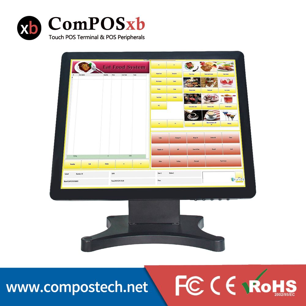 17 Inch Touch Screen Desktop Monitor Resolution 1280 1024 Lcd Touch Monitor Pos Display Monitor Touch Screen Computer Computer Peripherals Computer