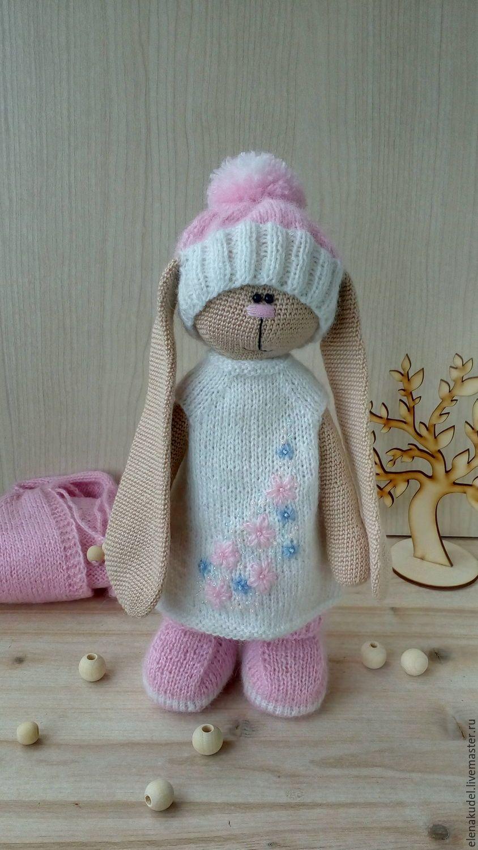 игрушки животные ручной работы вязаный заяц тильда Elena