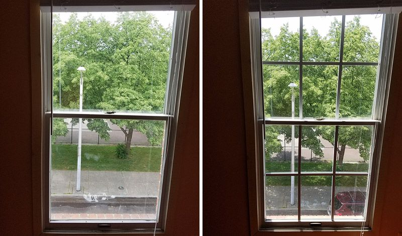 Before After Photo Of Add On Window Panes Diy Muntins Mullions Instapane Room Redecorate Gl Remodel Your Home With Newpanes