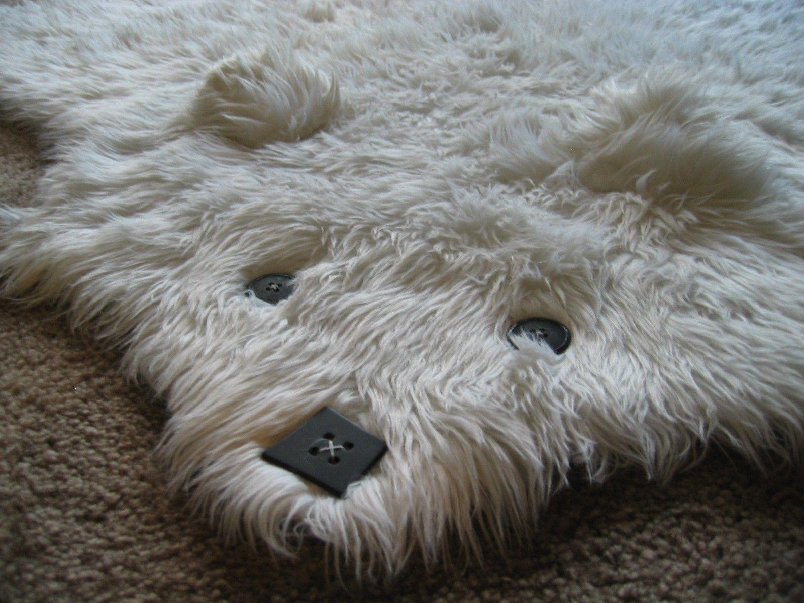 Beary The Faux Shaggy Long Pile Bearskin Rug Bear Rug Bear Skin Rug Faux Fur Rug
