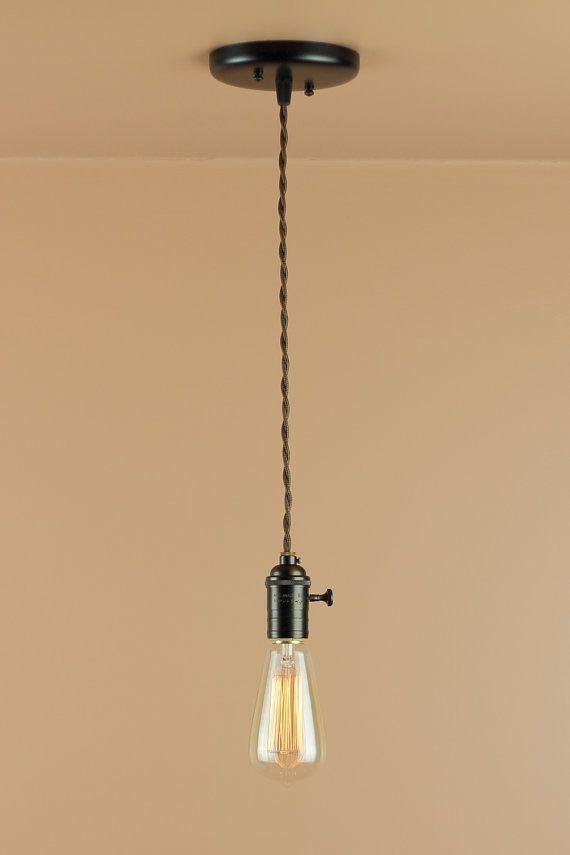 Bare Bulb Pendant Light - Edison Light Bulb - Antique Style ...