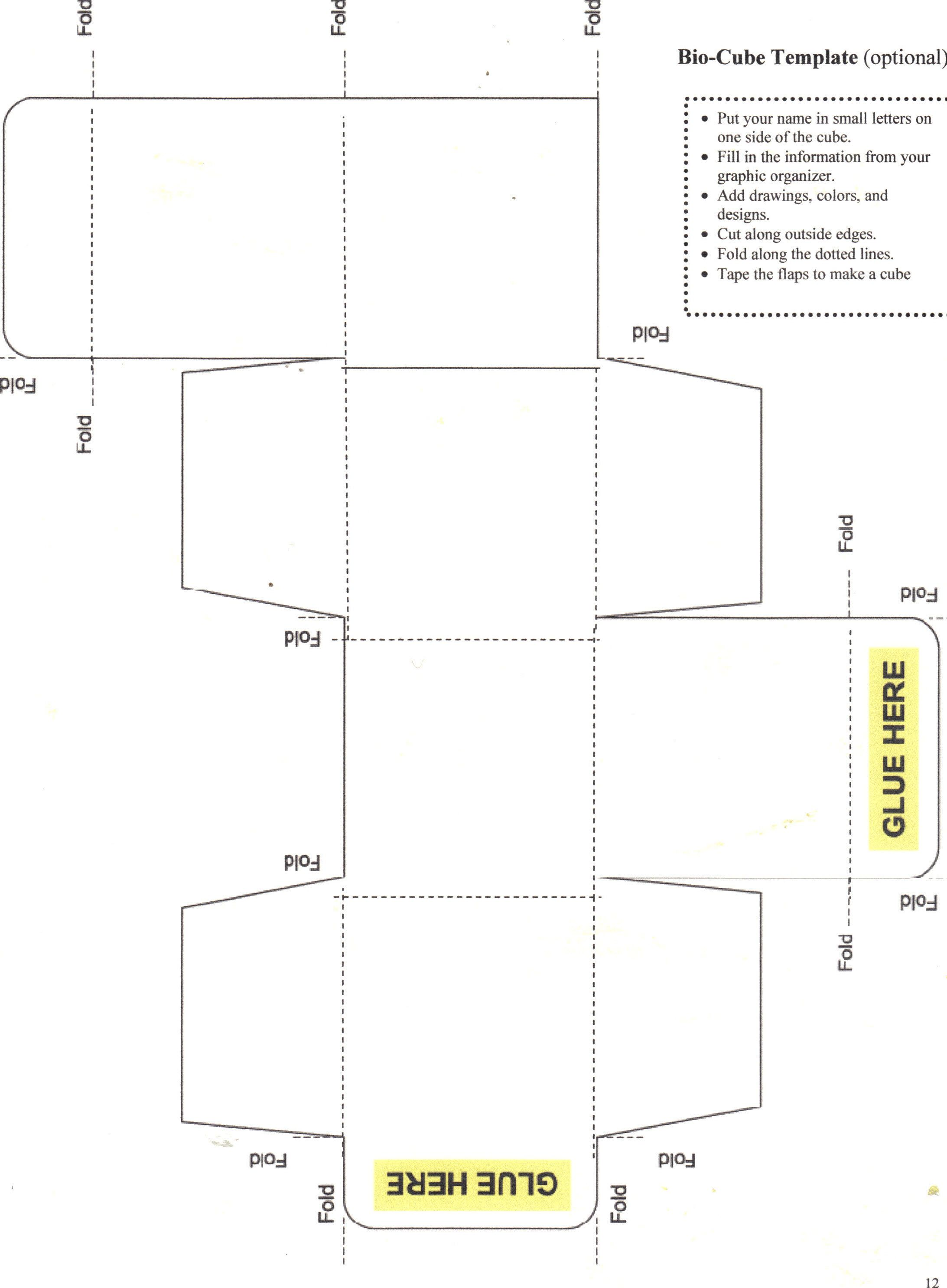 folded cube template