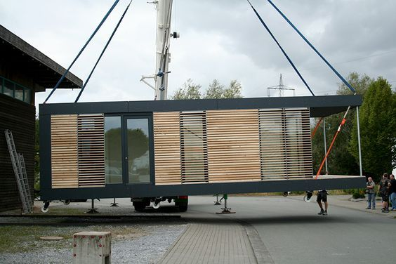 neues wohnen im cubig designhaus minihaus container home pinterest haus container. Black Bedroom Furniture Sets. Home Design Ideas