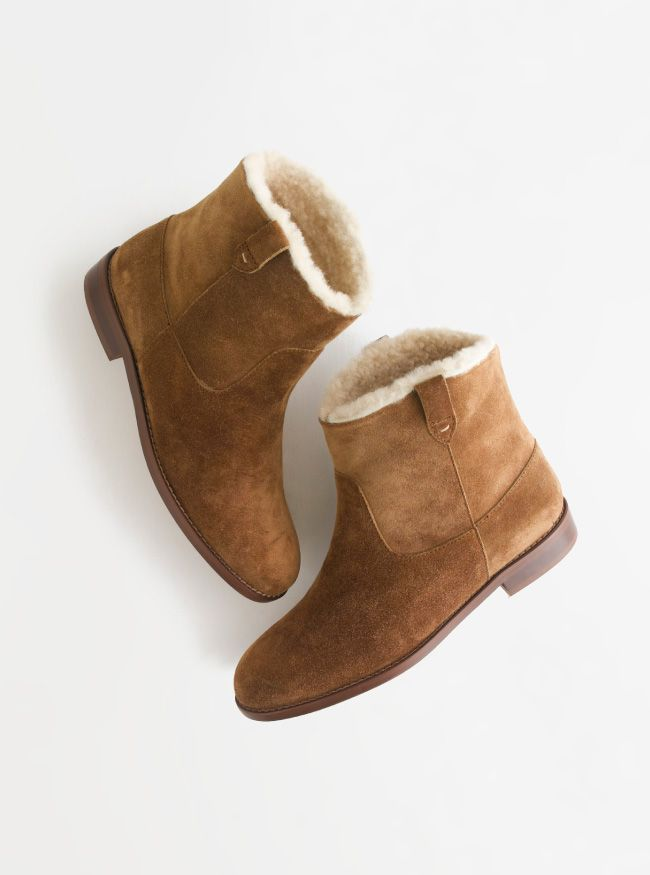 1e82d277cae26 Madewell Pull-on shearling boot.
