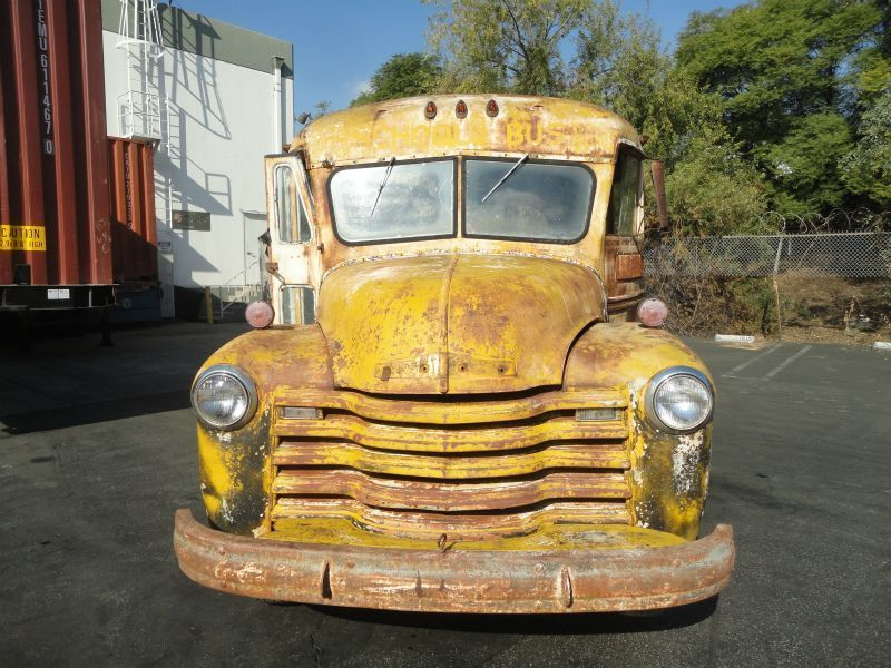 1948 Chevy Short School bus, Barn find rare Cool bus | Vehicle ...