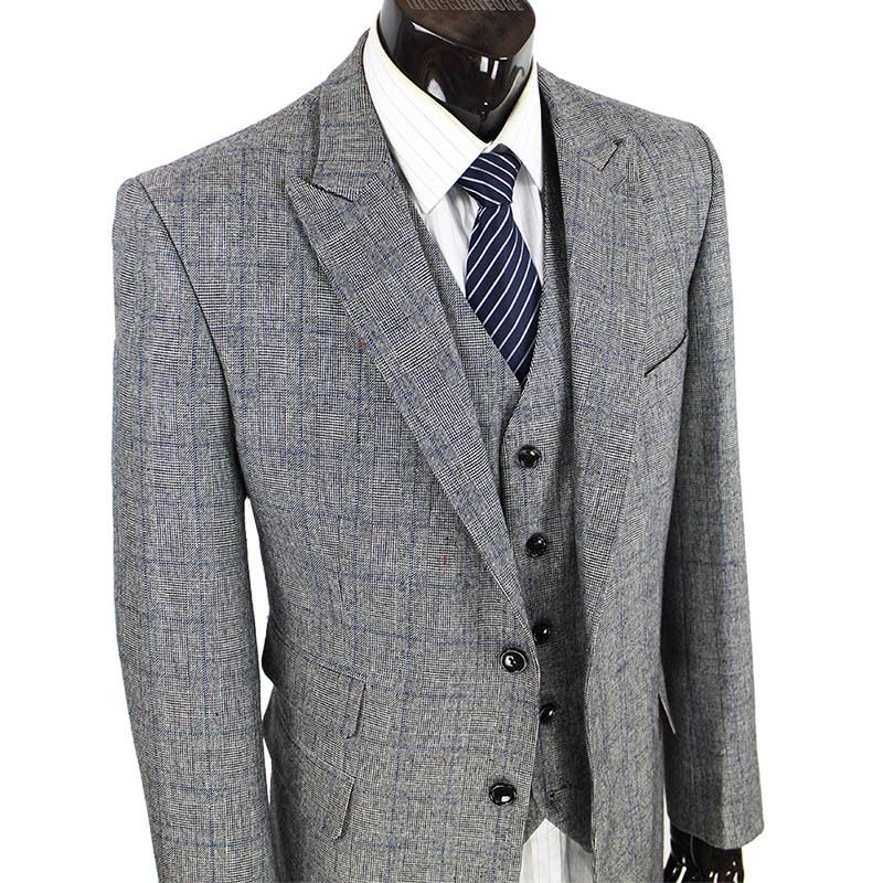 Wool Retro gentleman style tailor suits for men wedding party ...