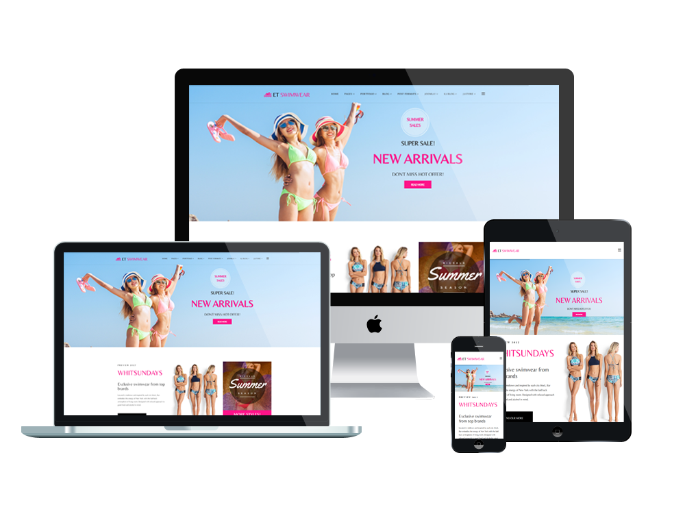 Et Swimwear  U2013 Free Responsive Swimwear Store Joomla  Template