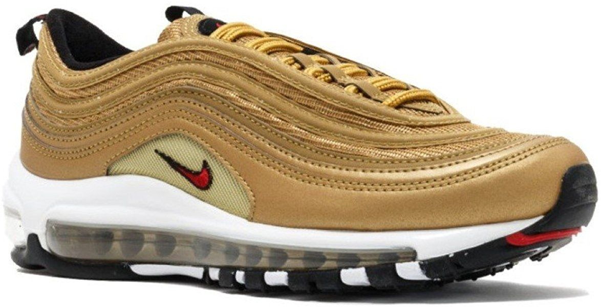 new style fee56 45733 Size 7 NIKE Women s WMNS Air Max 97 OG QS, Metallic Gold Varsity RED, Road  Running sneakers