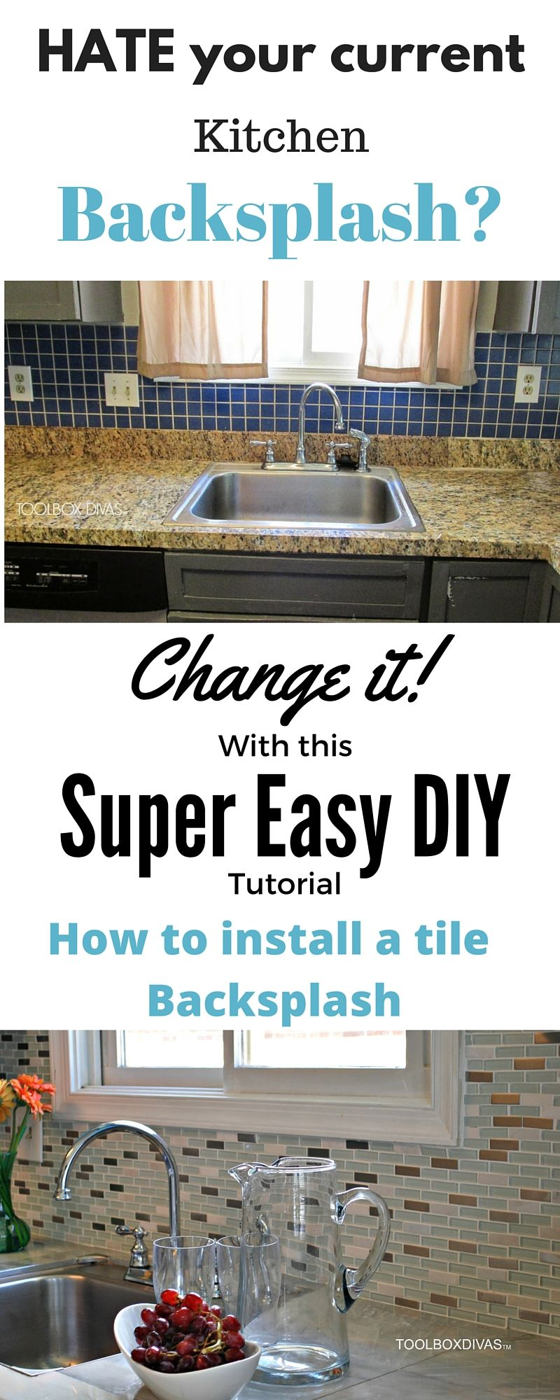 How to install a kitchen tile backsplash the easy way kitchen how to install a kitchen tile backsplash the easy way dailygadgetfo Image collections