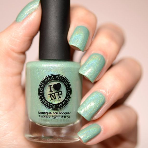 Princeton - Refined Mint Green Holographic Nail Polish