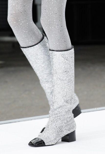 Chanel Glitter Boots ✨ | Boots, Glitter