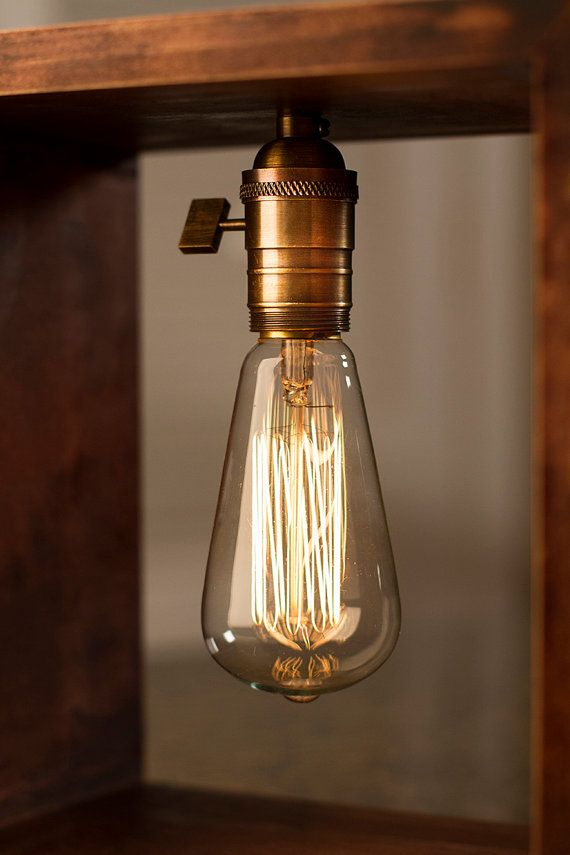 Shadow Box Edison Lamp Table Lamp Desk Lamp Bedside By DanCordero | Etsy