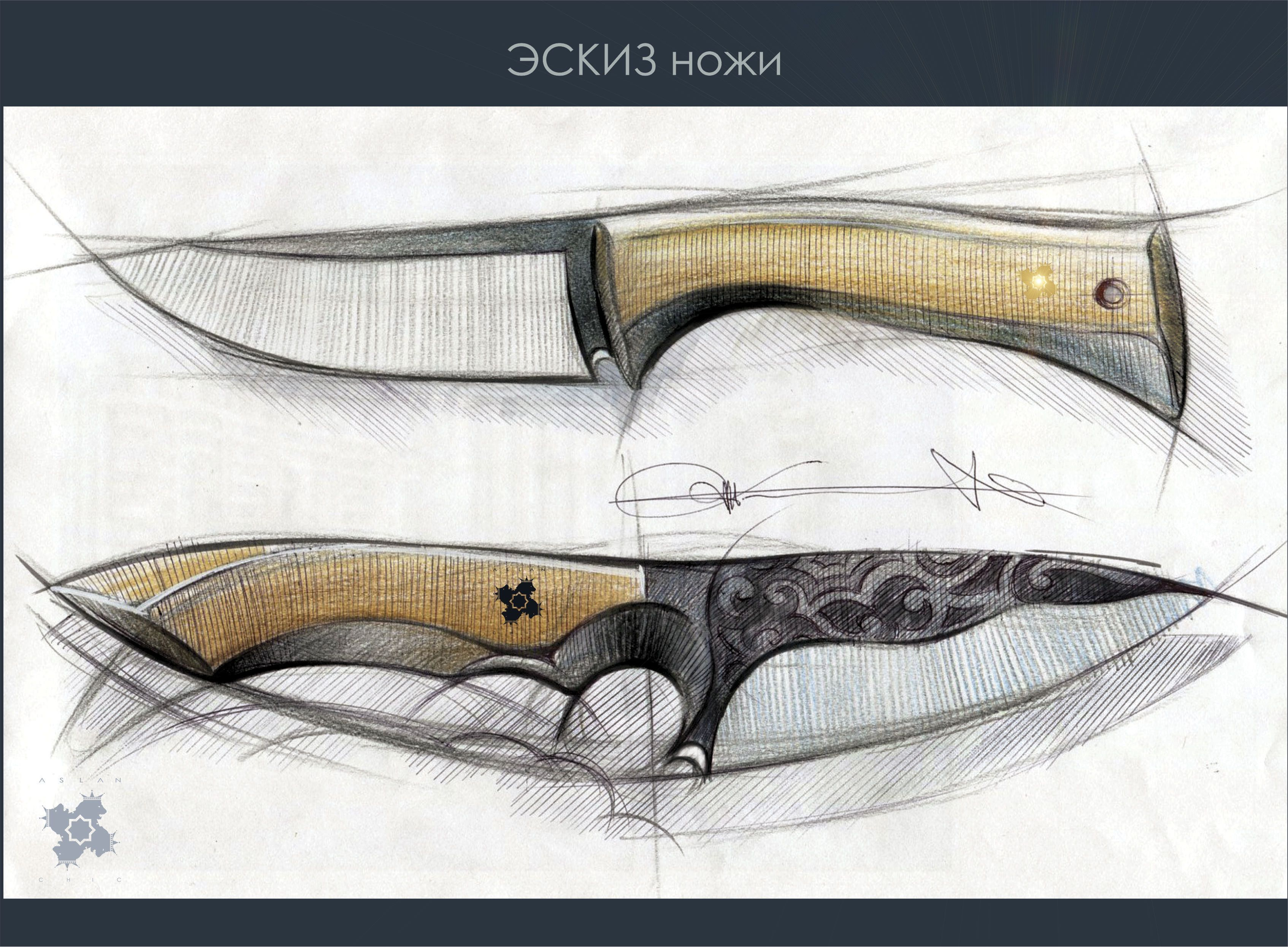 knife drawing designs - HD 3388×2492