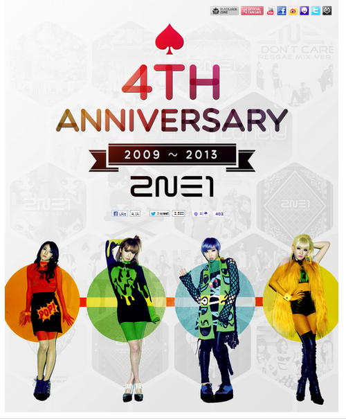 2NE1's 4 year anniversary as a group