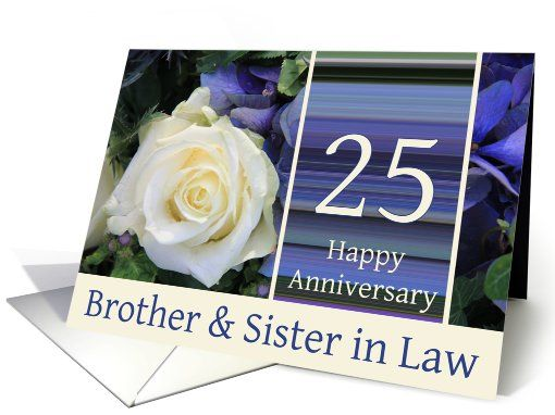 Th anniversary for brother sister in law card th