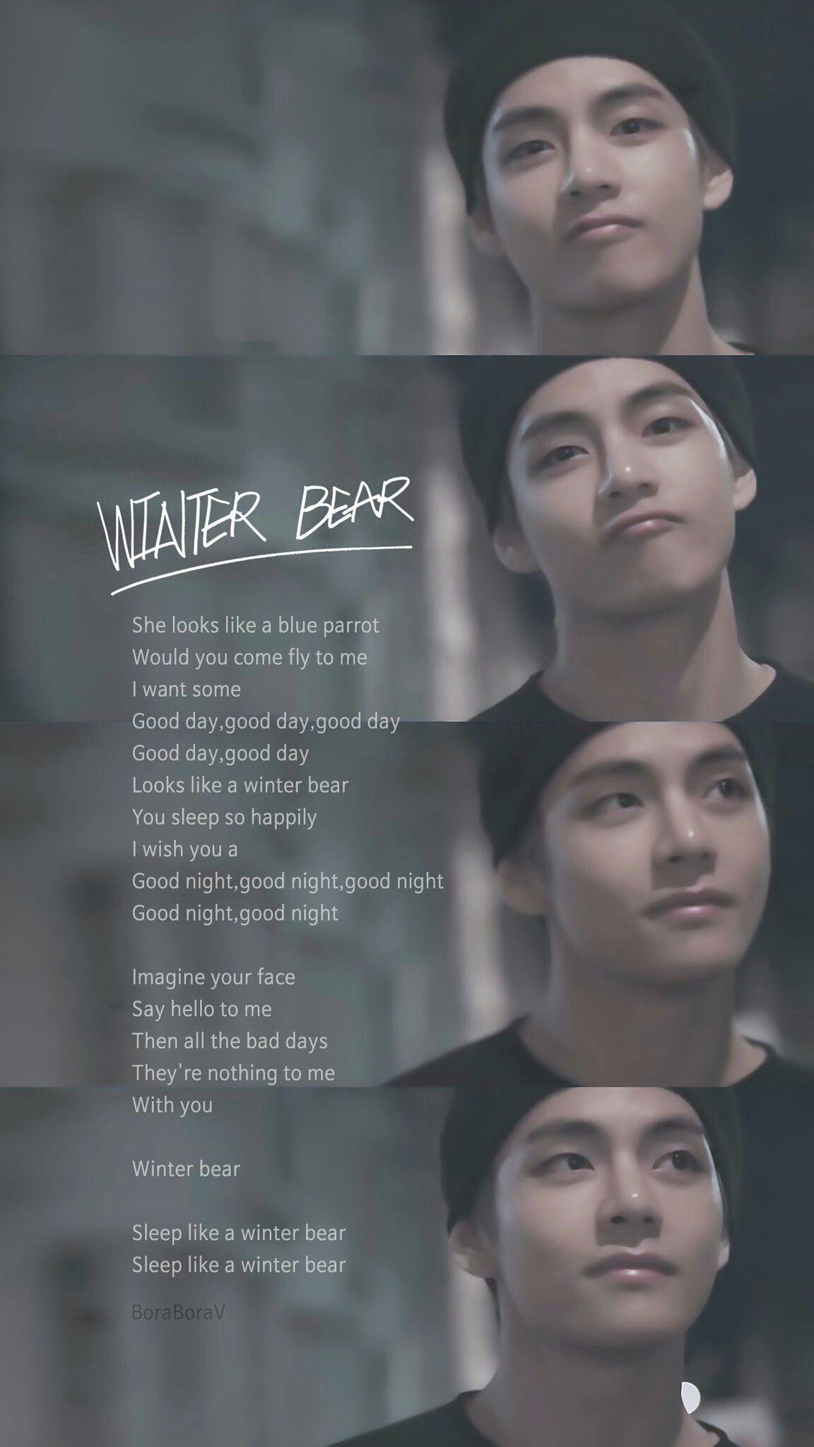 winter bear v in 2019 bts lyric bts song lyrics bts. Black Bedroom Furniture Sets. Home Design Ideas