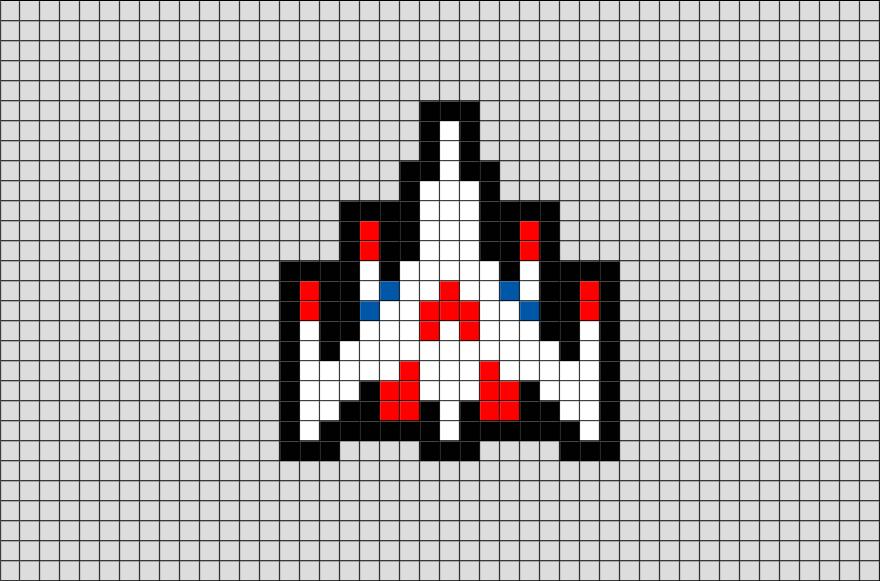 Galaga Ship Pixel Art Pixel Art Grid Pixel Art Pixel Art Templates