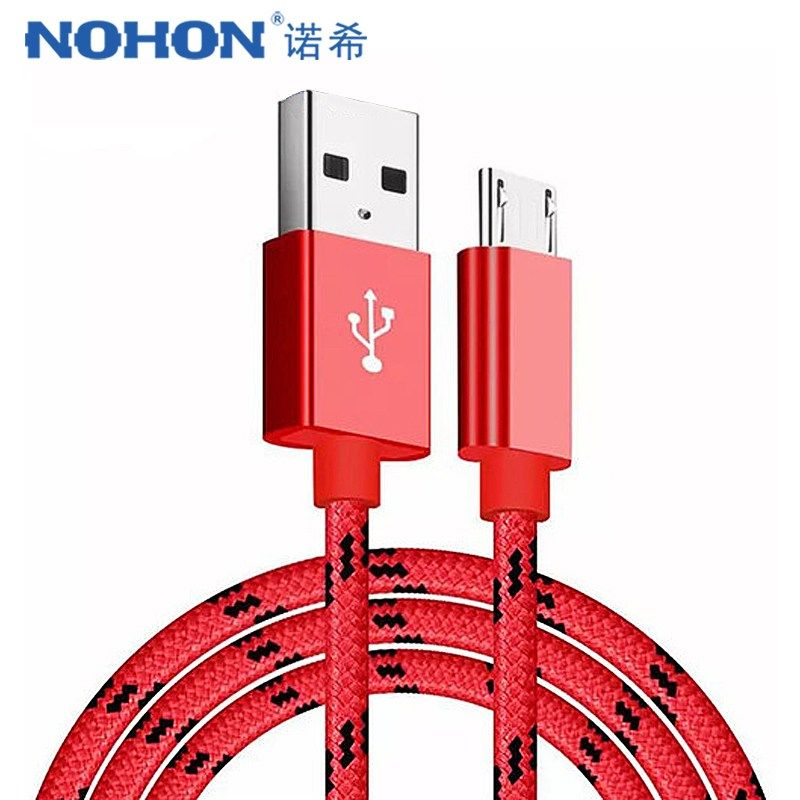 NOHON Nylon Charging Sync Cable For Samsung Galaxy S7 S6 For