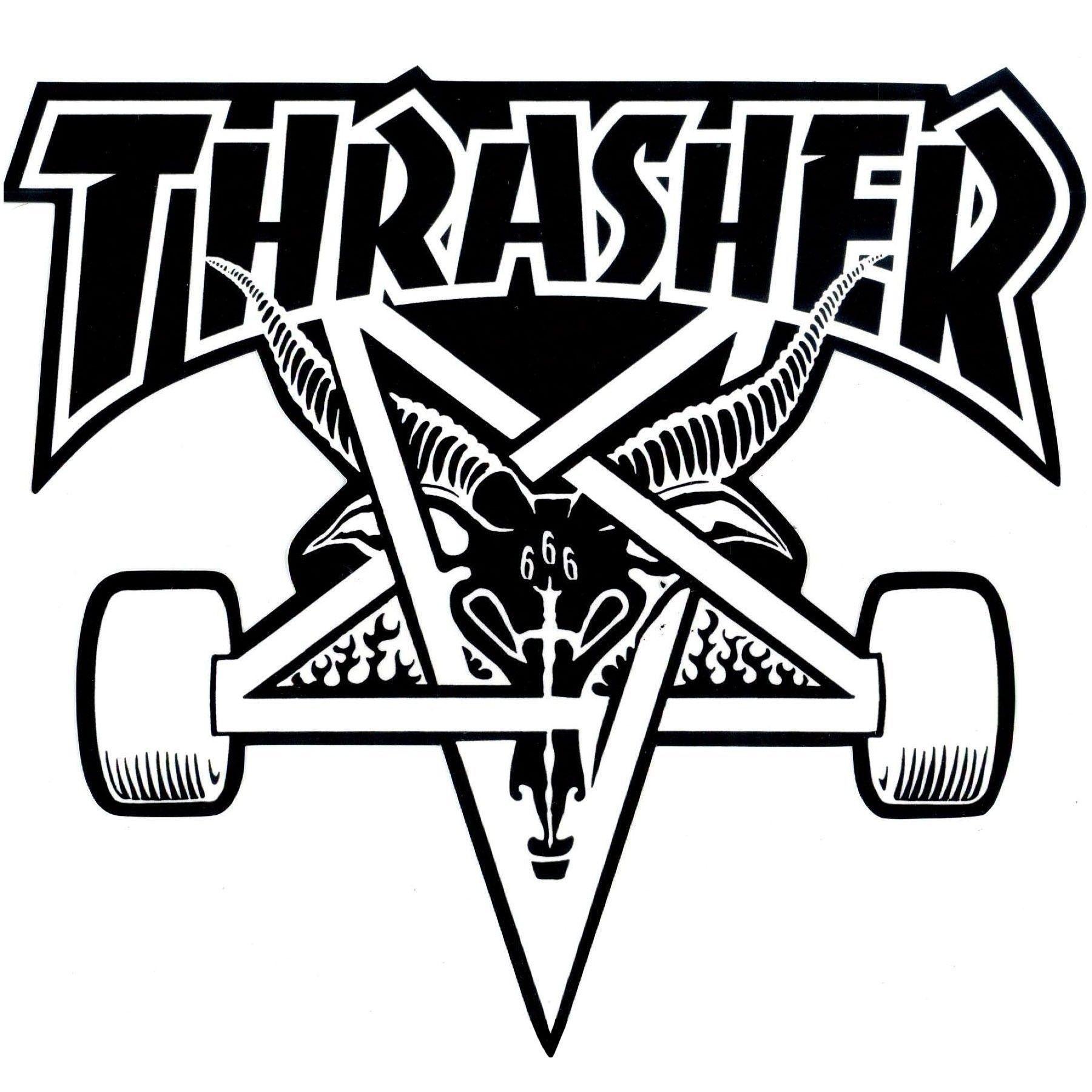 Thrasher Magazine Skategoat Black//White Night Shorts Small