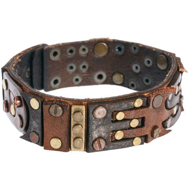 77860b84d25f9 Diesel Leather Bracelet ($102) found on Polyvore | DIY / crafts ...
