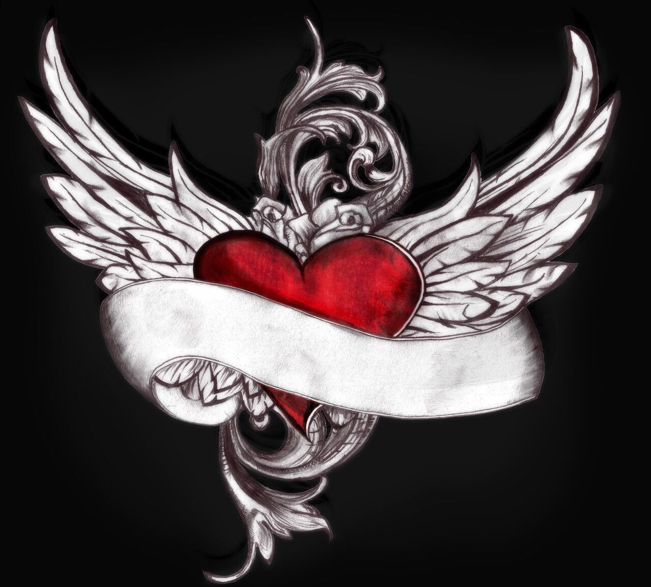 Memorial Tattoo Heart With Wings And Quote: Tattoo, Custom Tattoo And