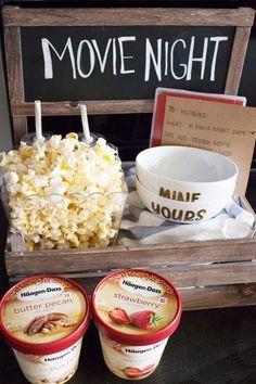 DIY Date Night Ideas – Filmnachtdatum-Kiste – Kreative Wege, auf Kosten zu gehen #movietimes