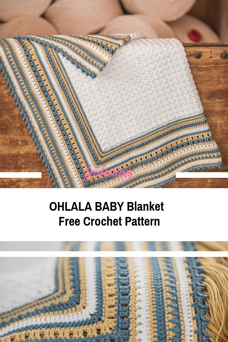 Very Soft And Lightweight Baby Blanket Crochet Pattern | Ganchillo ...