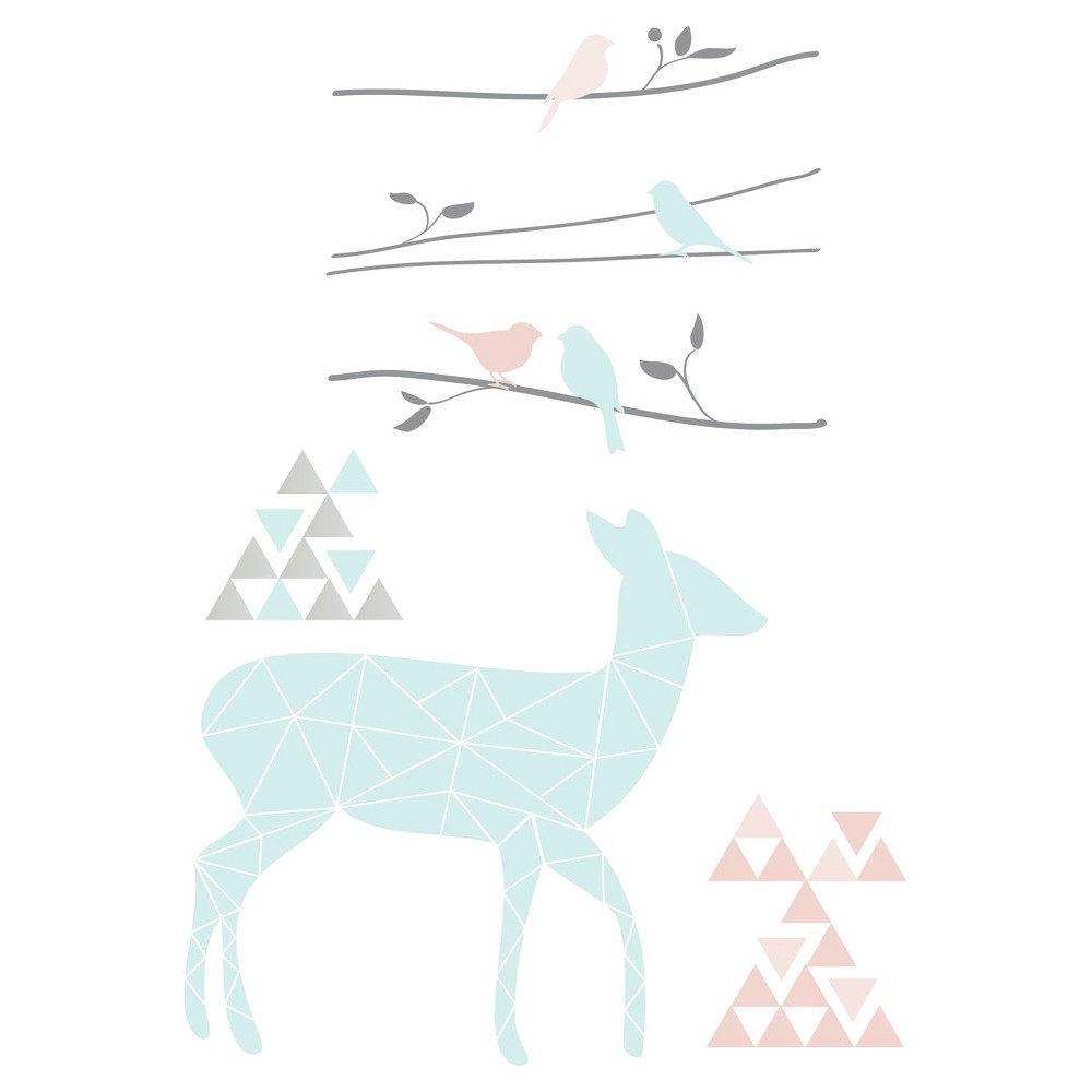Lolli Living Sparrow Wall Decals MultiColored, Deer