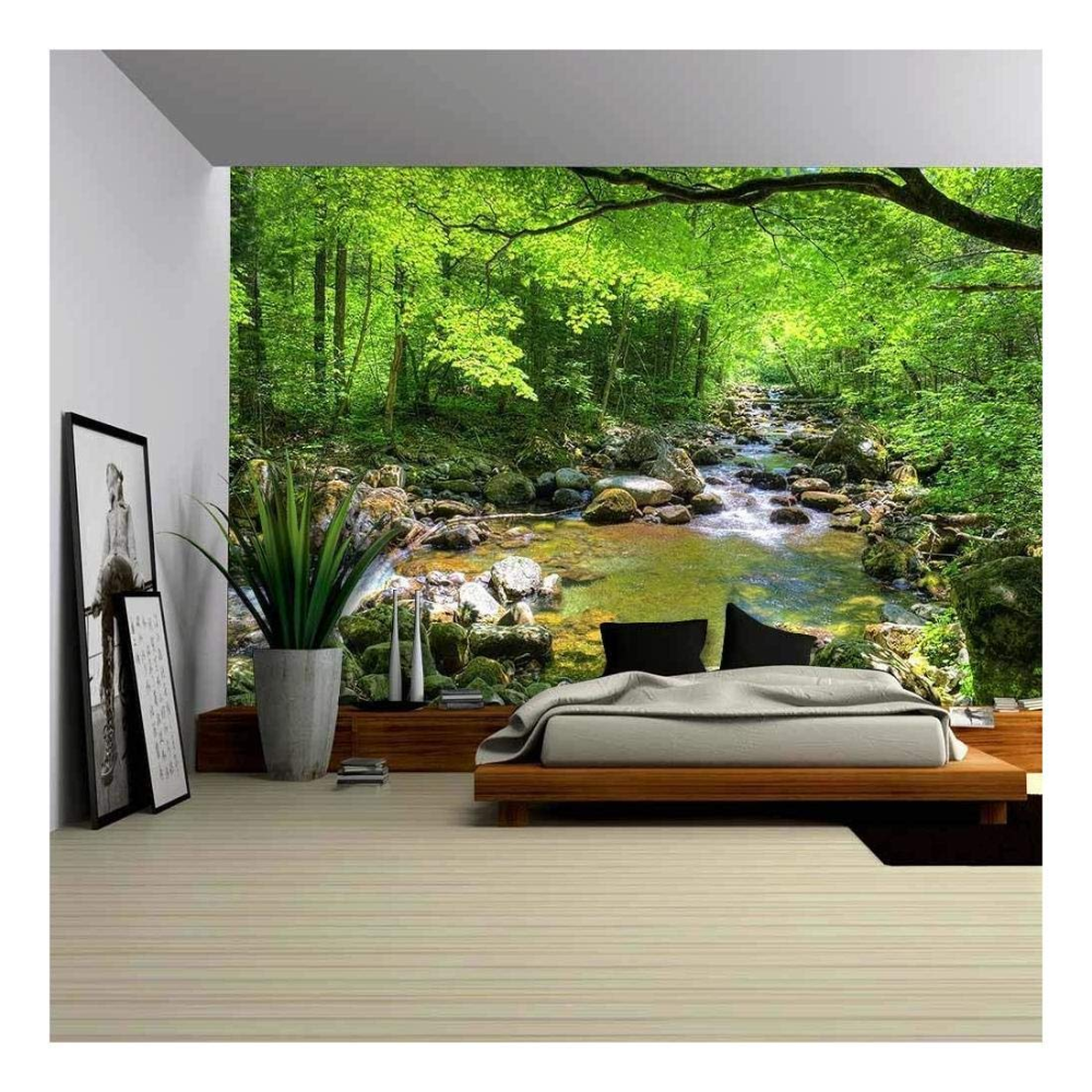 Wall26 Fall Forest Stream Smolny In Russian Primorye Reserve Removable Wall Mural Self Adhesive Large Wall Forest Mural Wall Murals Removable Wall Murals
