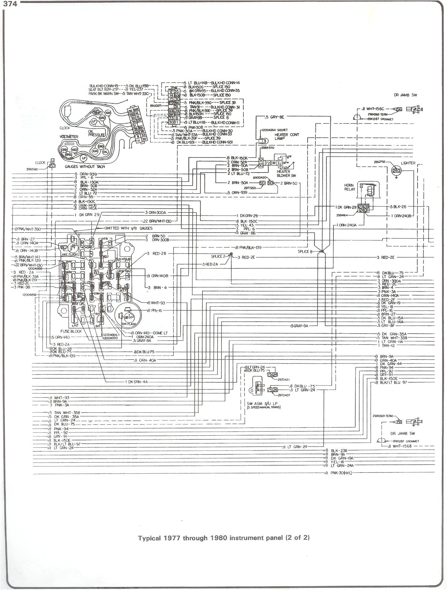 instrument panel of 1981 chevy c10 fuse box wiring diagram with heater blower and fuse block or dimmer flasher wiring diagram [ 1488 x 1963 Pixel ]