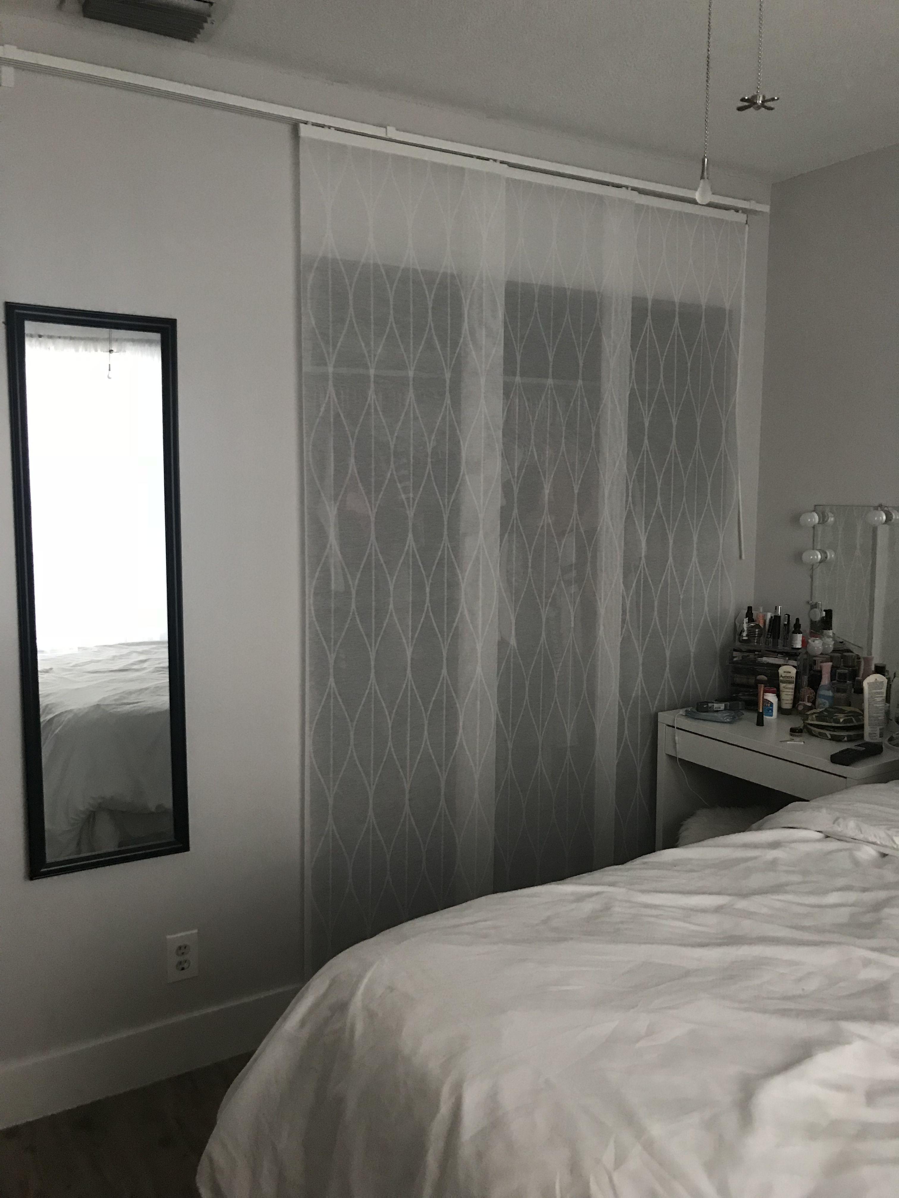 IKEA Panels As Closet Doors.