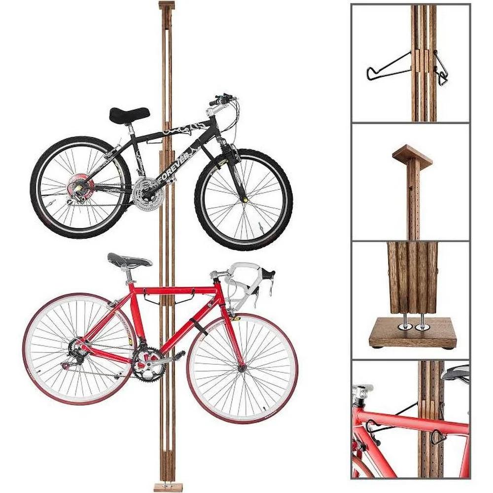 Rad Cycle Woody Bike Stand Bicycle Rack Storage Or Display Holds