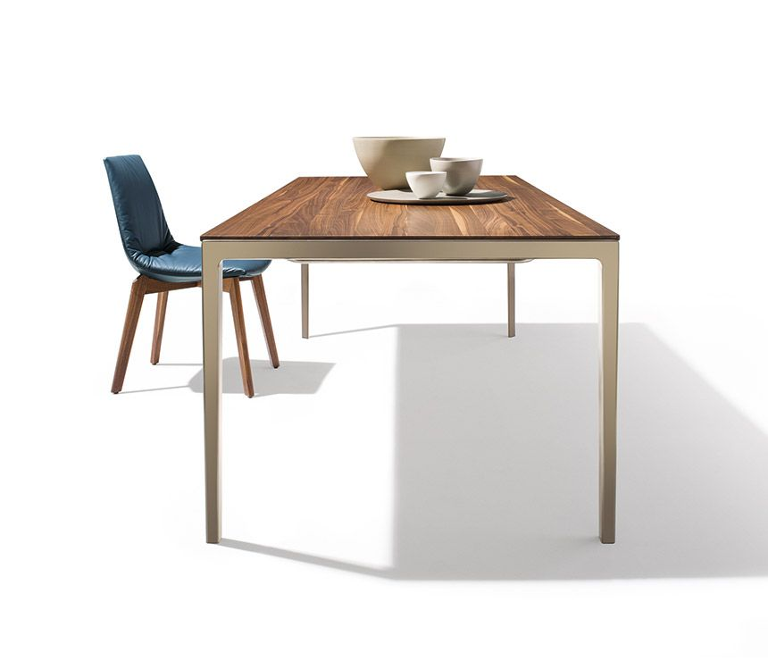 The Tak Extendable Table With Metal Leg From TEAM 7 ✓ With Fascinatingly  Thin Table Top Made Of Solid Wood ✓ Design And Innovation Combined In One  Table.