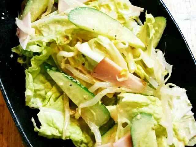 白菜ともやしのコチュマヨサラダの画像